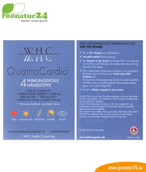 WHC Quattro Cardio von Nutrogenics Verpackung