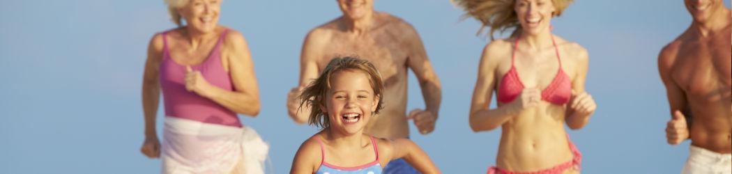 Ungetrübter Spass an der Sonne für die ganze Familie.
