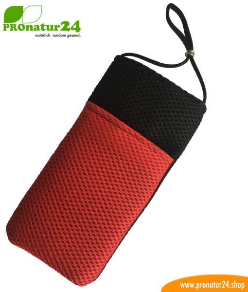 Handyhülle Handytasche mit Strahlenschutz, Sonderedition schwarz-rot
