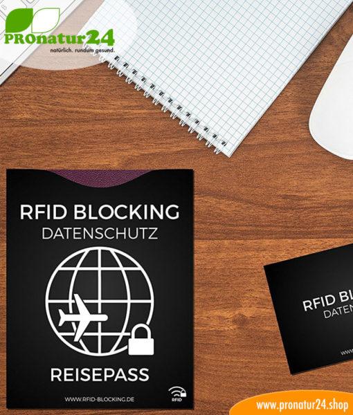 RFID NFC Schutzhülle für Kreditkarte, Reisepass und mehr