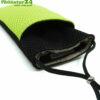 Handyhülle Handytasche eWall schwarz-blau, 3in1 Funktion, wendbar, schwarz-grün