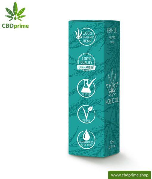 CBD Hanföl der Cannabis Pflanze mit 5 % CBD Anteil. Ohne THC.