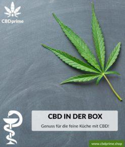 """CBD BOX """"Genuss für die feine Küche mit CBD!"""". Exklusiv bei CBDprime."""