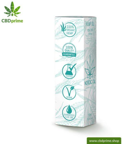 CBD Hanföl der Cannabis Pflanze mit 15 % CBD Anteil. Ohne THC.