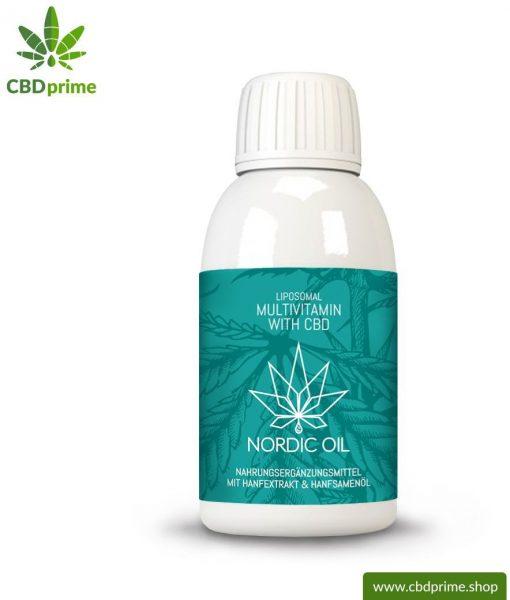 Liposomales Multivitamin mit CBD (90mg CBD). Ideal für einen Monat mit 30 Portionen mit jeweils 3 mg CBD.