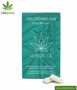 CBD Kaugummi mit 5 mg CBD pro Stück. Cannabidiol in neuer, leckerer und zuckerfreier Form mit Xylitol (karieshemmend!). Natürlicher Geschmack nach Minze und Eukalyptus!